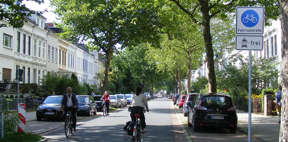 Fahrradstraße seit 2014: Humboldtstraße in Bremen CC BY-SA 3.0, Ulamm, via Wikimedia Commons